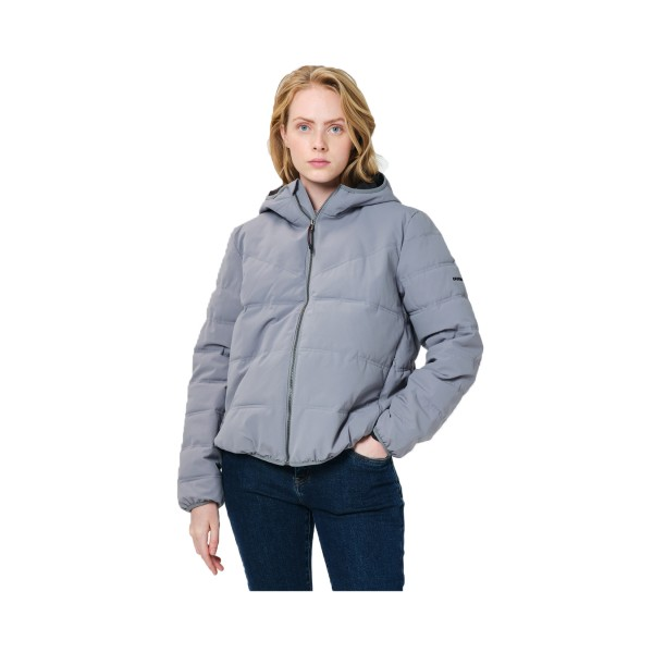 Emerson Hooded Puffer Jacket W Grey