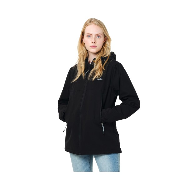 Emerson Zip Hooded Jacket W Black