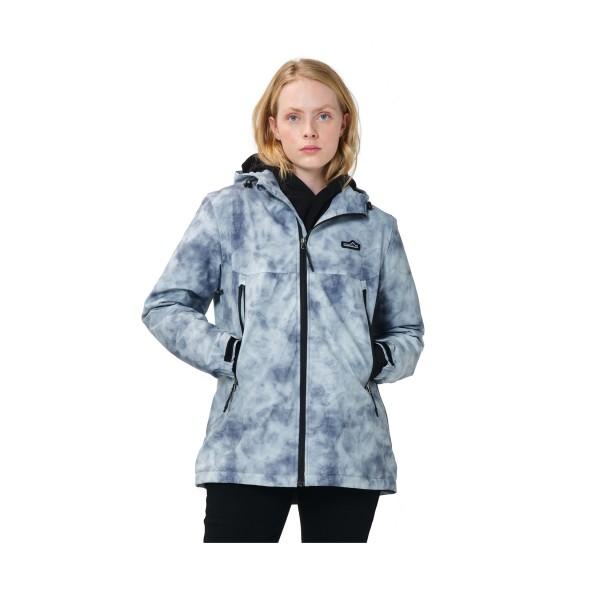 Emerson Zip Hooded Jacket W Grey