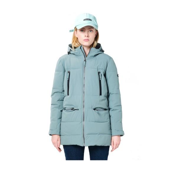 Emerson Hood Long Puffer Jacket W Pine