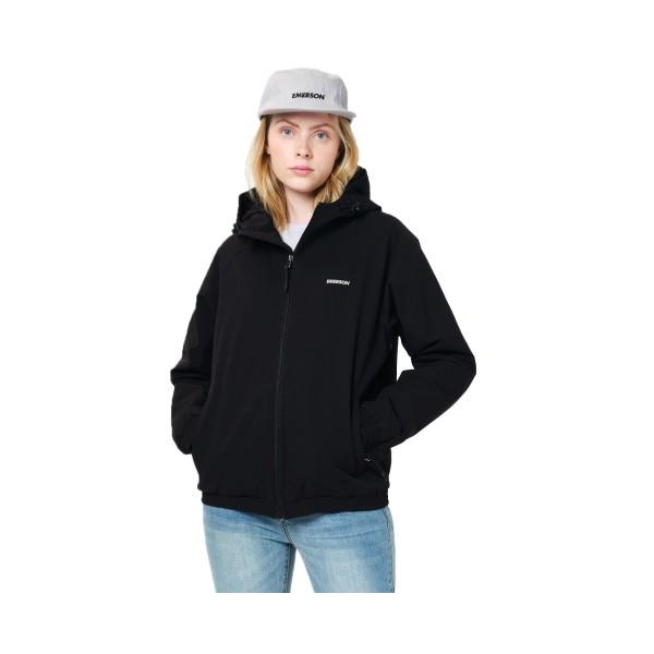 Emerson Raglan Hooded Jacket W Black