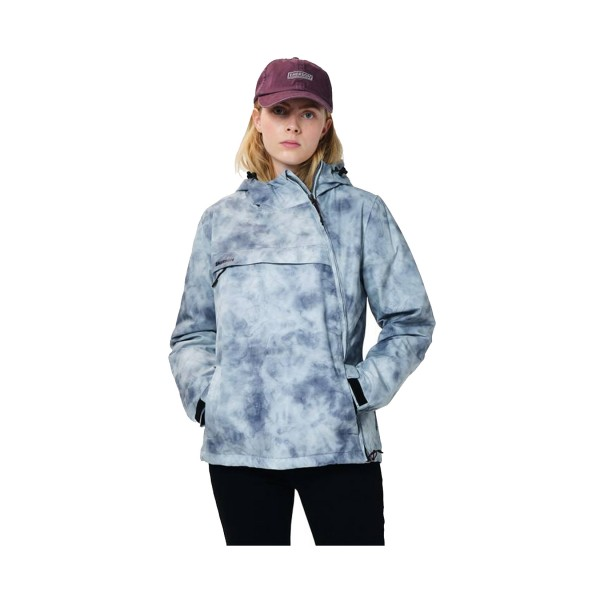 Emerson Cross Zip Hooded Jacket W Grey