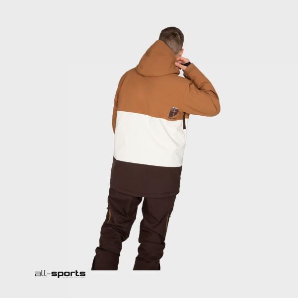 Protest Backflip Anorak Brown - White