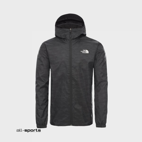The North Face Quest Hooded Jacket Print Black