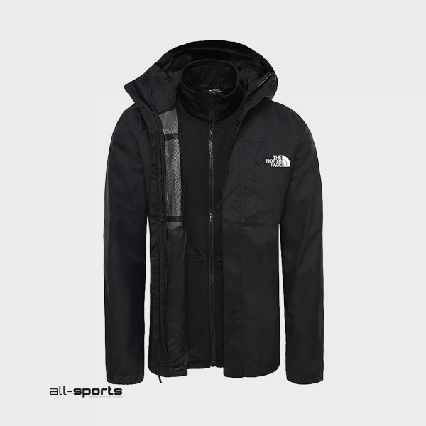 The North Face Quest Zip-In Triclimate Black