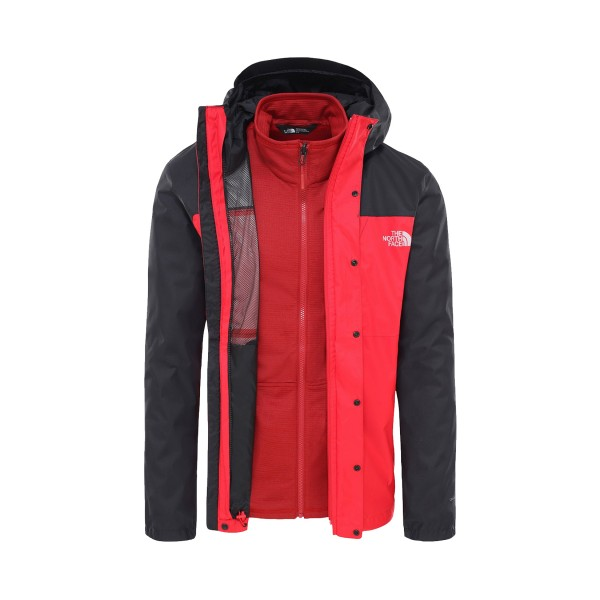 The North Face Quest Triclimate Black - Red
