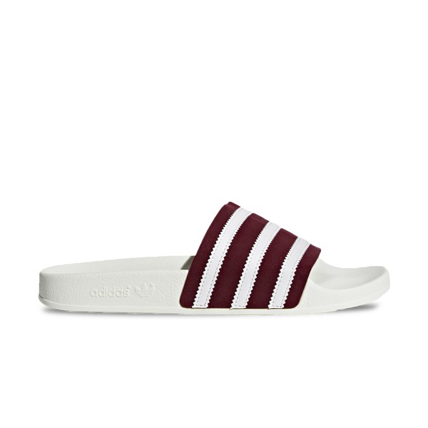 Adidas Originals Adilette White - Burgundy