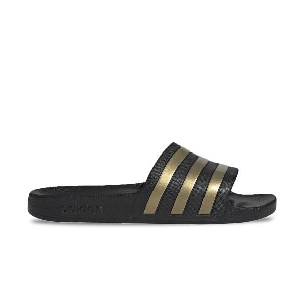 Adidas Adilette Aqua 10 Black - Gold