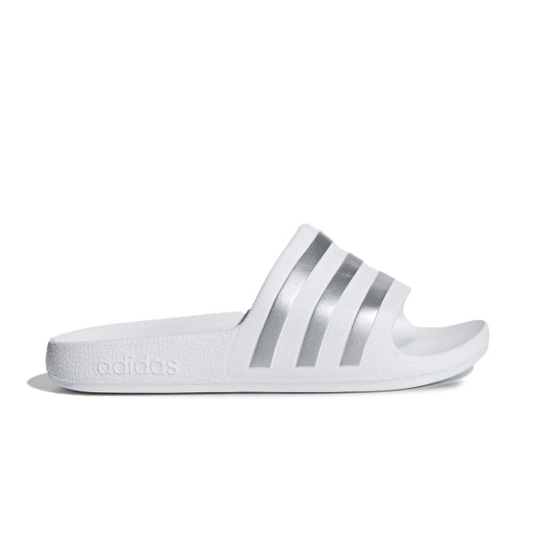 Adidas Adilette Aqua K White - Silver