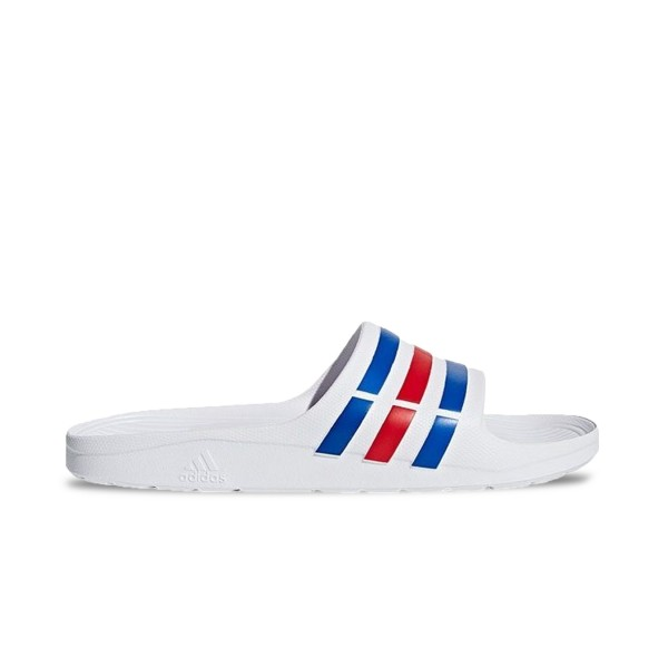 Adidas Adilette White - Blue - Red
