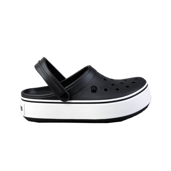 Crocs Crocband Platform Clogs Black - White