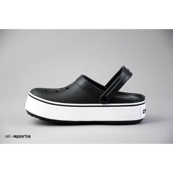 Crocs Crocband Platform Clogs Black - White