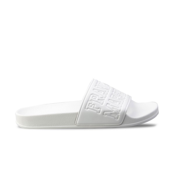 Franklin Marshall Slipper Pool White