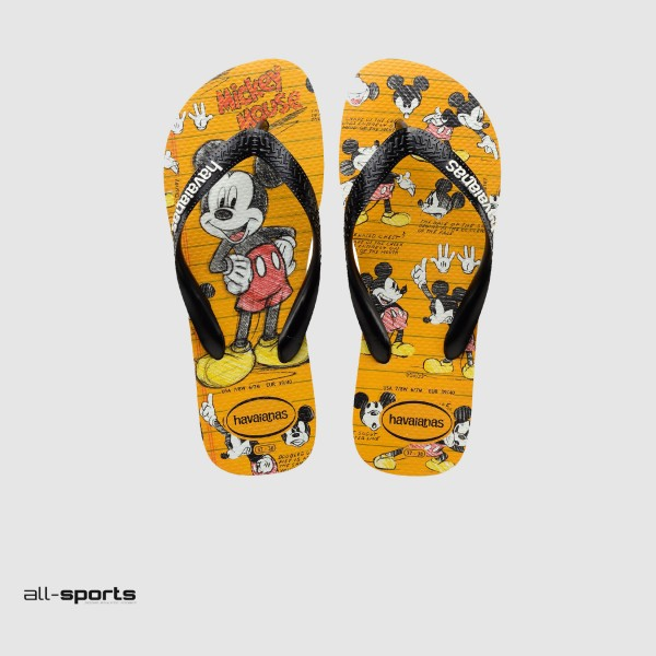 Havaianas Disney Mickey Flip Flops Yellow