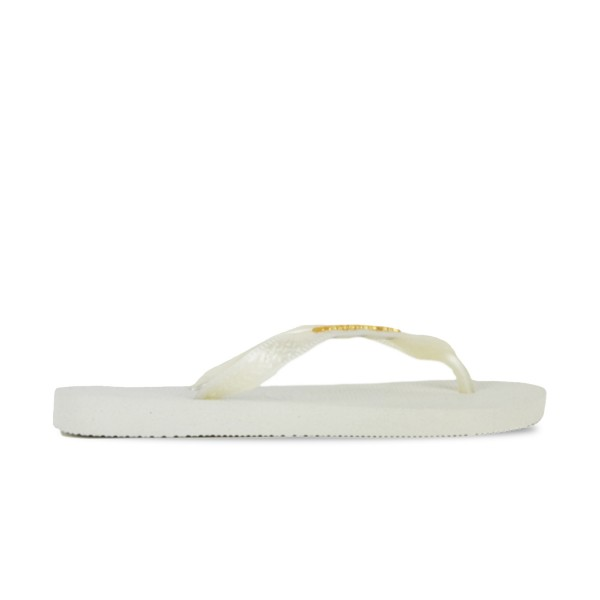 Havaianas Slim Metallic White - Gold