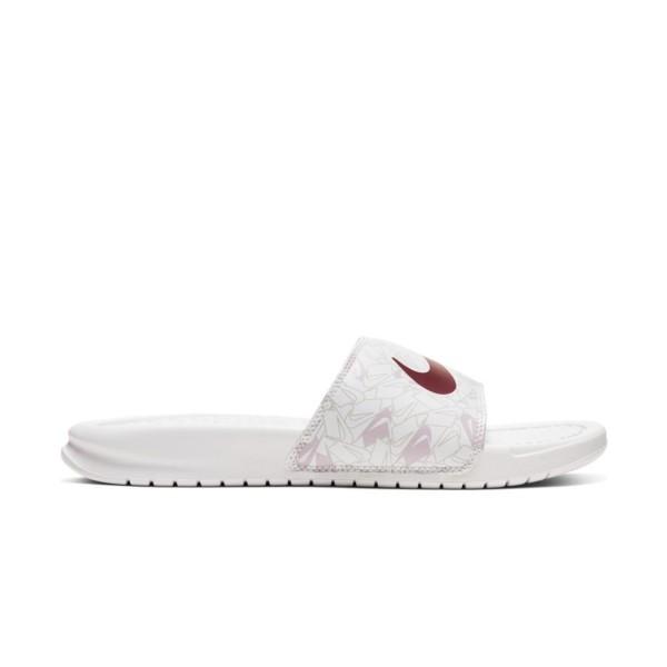 Nike Bennasi Just Do It White - Iced Lilac