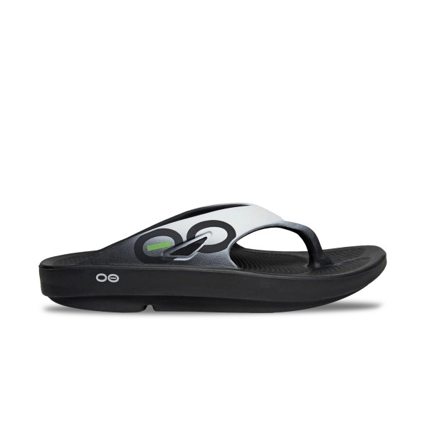 Oofos Ooriginal  Sport Sandal Black - White