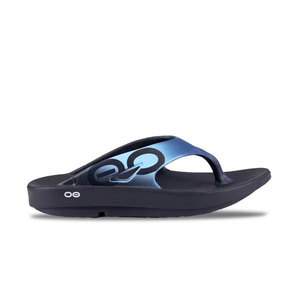 Oofos Ooriginal Azul Sport Sandal Black - Blue