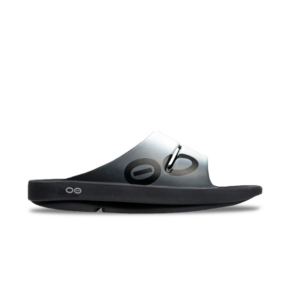 Oofos OOah Sport Slide Smoke Black - Grey