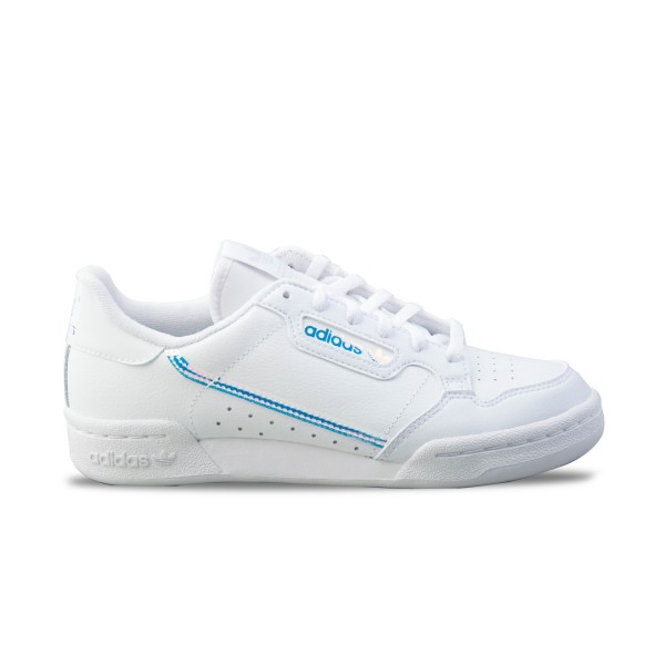 Adidas Originals Continental 80 J  White - Iridescent