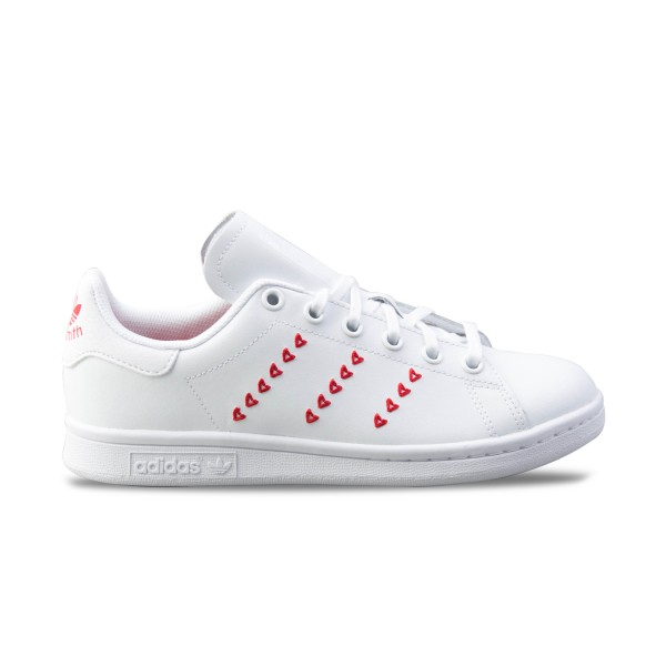 Adidas Originals Stan Smith J Hearts White