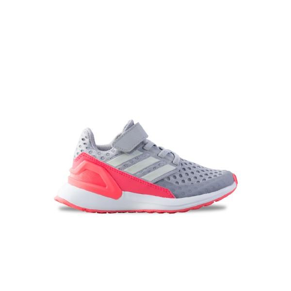 Adidas RapidaRun K Grey - Pink