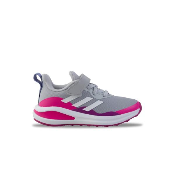 Adidas Fortarun Elastin Lace Top Γκρι - Ροζ