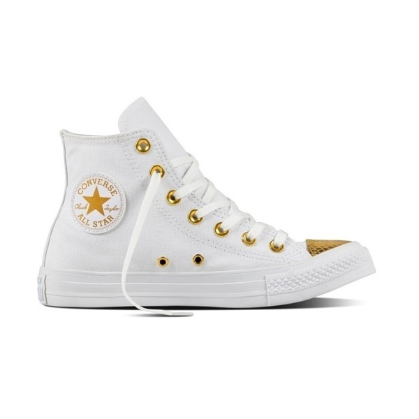 Converse Chuck Taylor All Star Hi  Metallic Toecap White - Gold