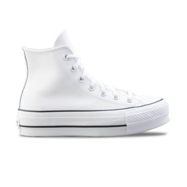 Converse Chuck Taylor All Star Lift Leather High Top White
