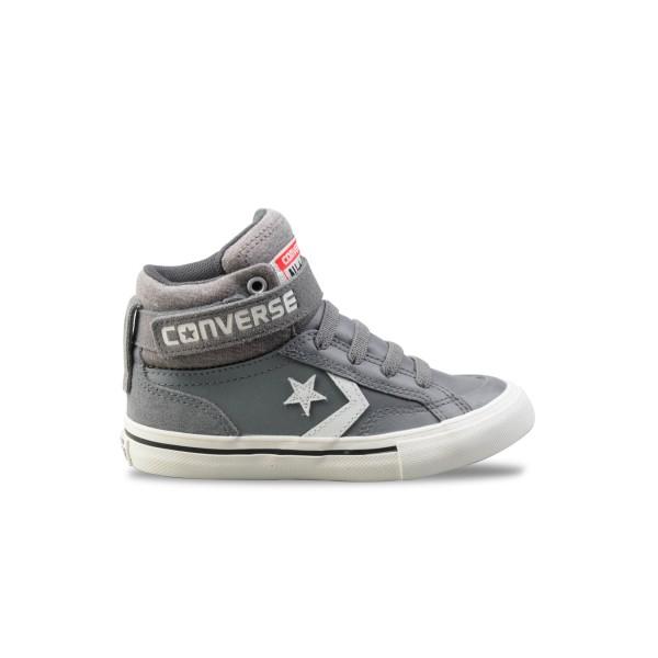 Converse Pro Blaze Strap Hi Grey - White
