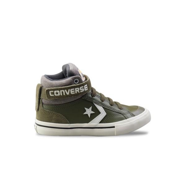 Converse Pro Blaze Strap Hi Olive - White