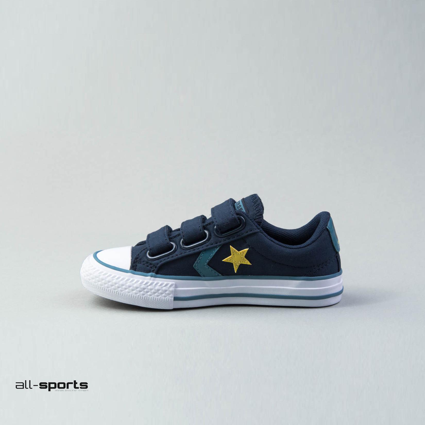Παιδικό Παπούτσι Sneaker Converse One Star 3V OX Μπλε  All