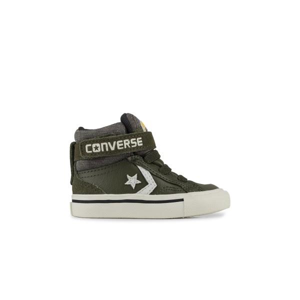 Converse Pro Blaze Strap Hi TD Olive - White