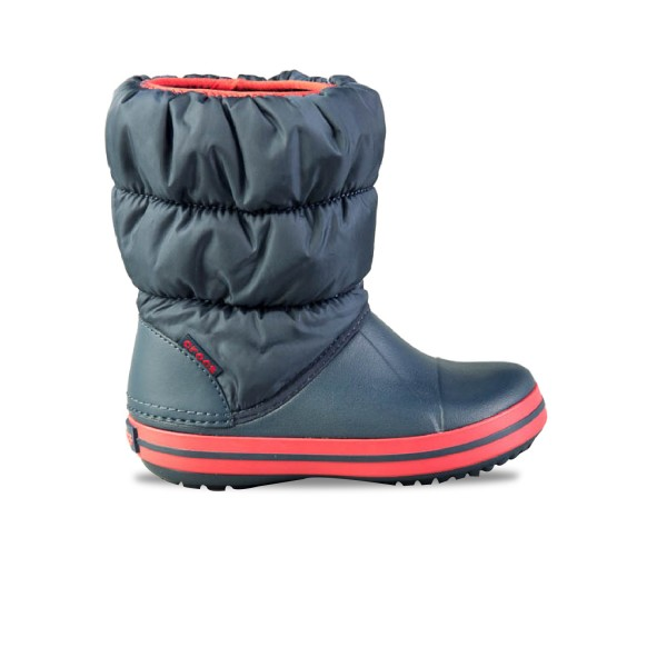 Crocs Winter Puff Boot Kids Navy - Red