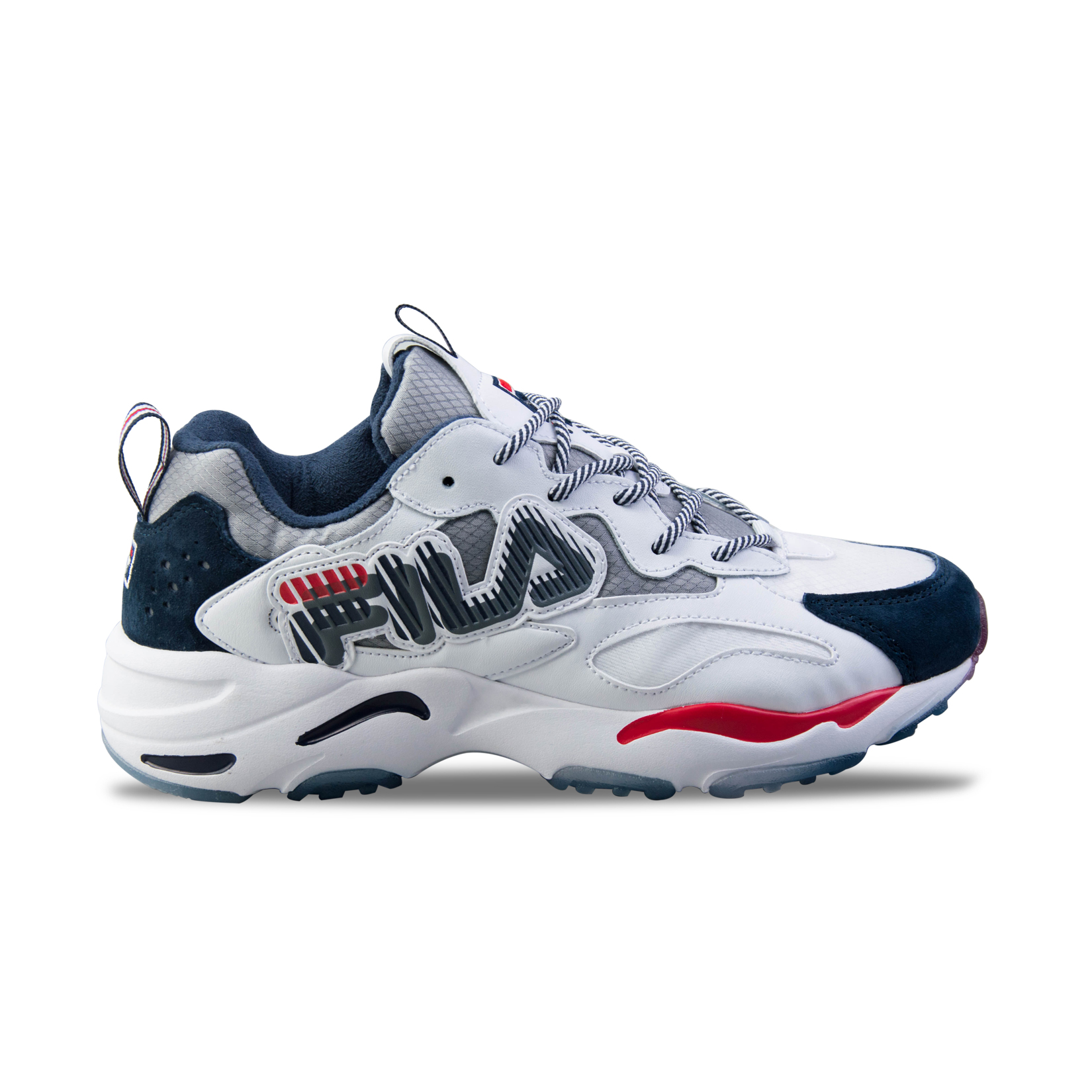 Fila Heritage Ray Tracer Graphic White - Blue