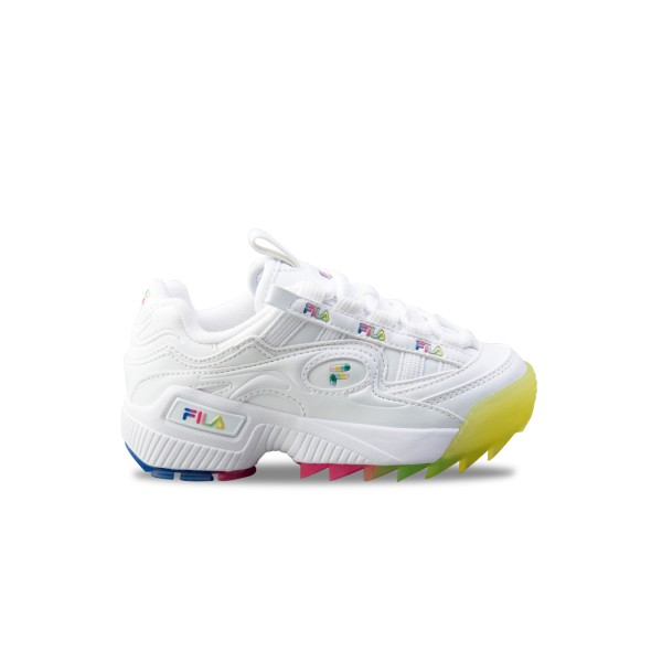 Fila D-Formation Jr White - Rainbow