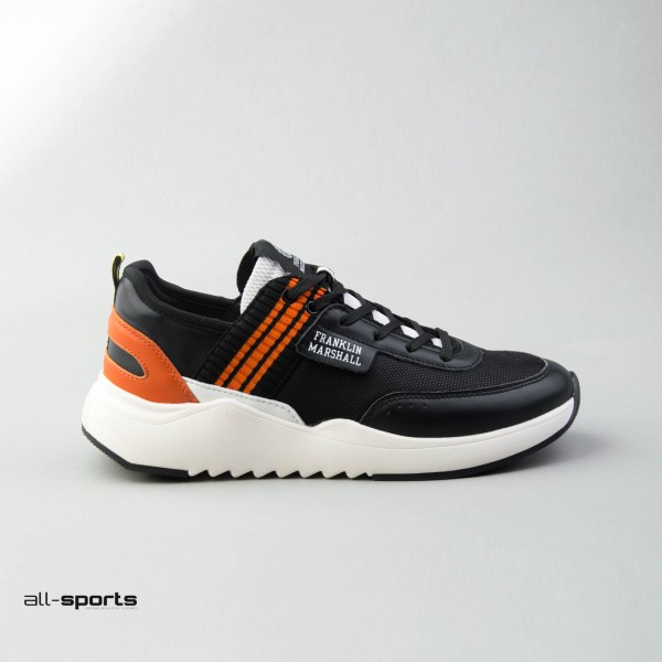 Franklin Marshall Alpha Match Leather Black - Orange
