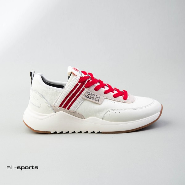 Franklin Marshall Alpha Master Leather White - Red