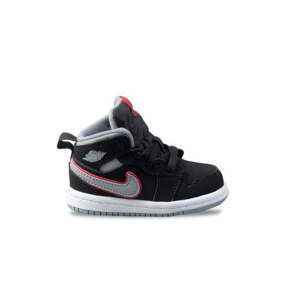 Jordan 1 Mid Black - Grey