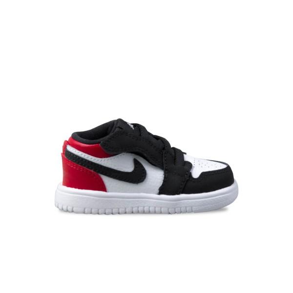 Jordan 1 Low White - Black - Red
