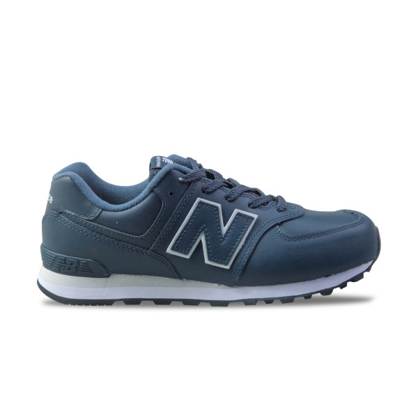 New Balance 574 J Leather Blue