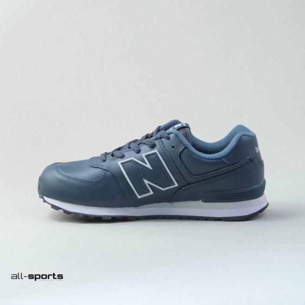 New Balance 574 Leather Blue