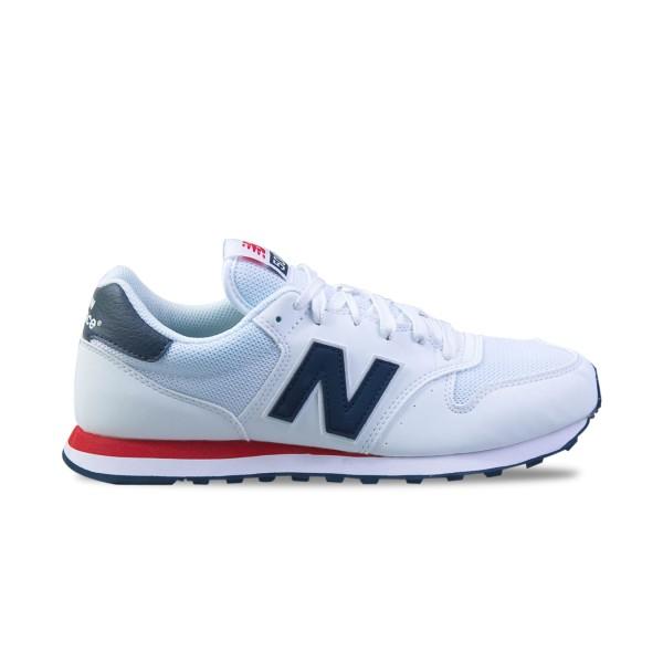 New Balance 500 White - Red - Blue