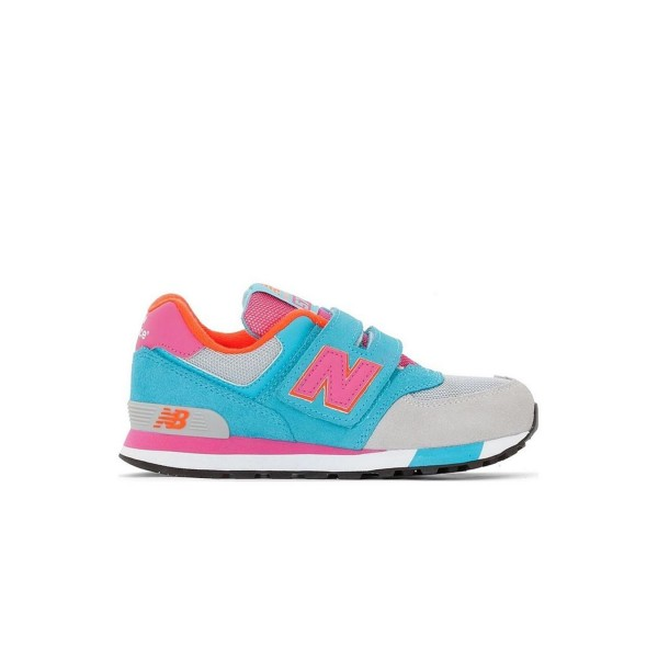 New Balance 574 Grey - Blue - Pink