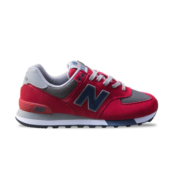 New Balance 574 Red - Grey