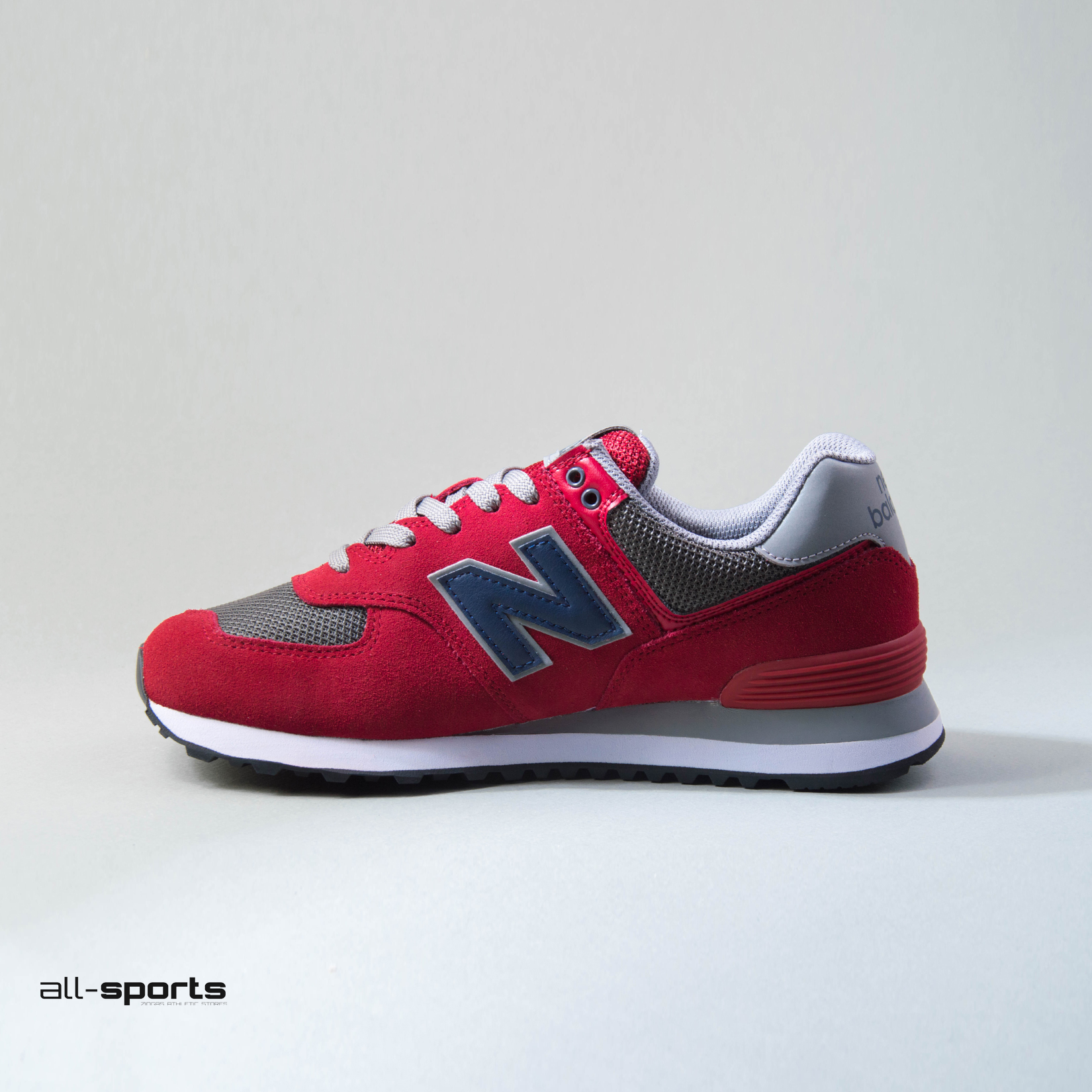 official photos c0137 1d321 Men's Shoes New Balance 574 Red / Grey   All-Sports.gr