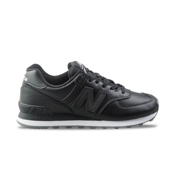 New Balance 574 Leather Black