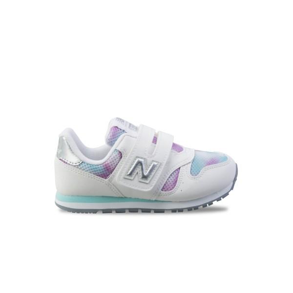 New Balance 373 K White - Pink - Silver