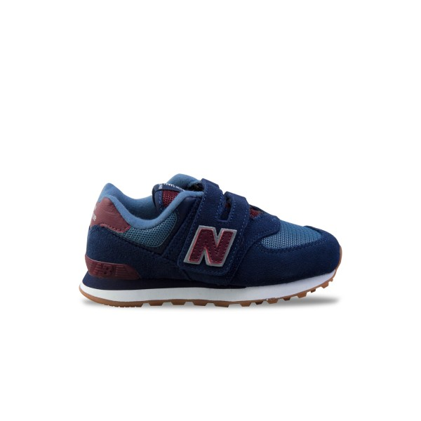 New Balance 574 K Blue - Bordeaux