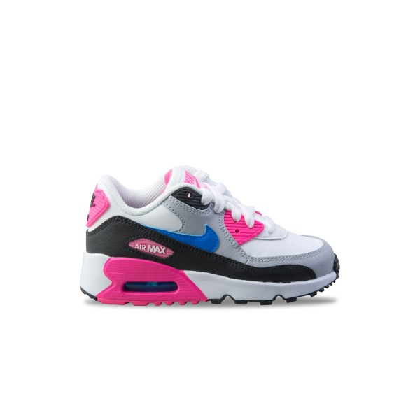 Nike Air Max 90 Leather White - Grey - Pink
